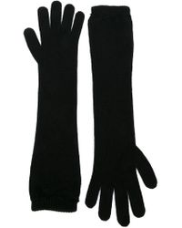 Moncler - Black Long Gloves - Lyst