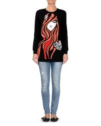 Love Moschino - Black Long Sleeve Sweater - Lyst