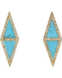 Jennifer Meyer - Blue Inlay Studs-colorless - Lyst