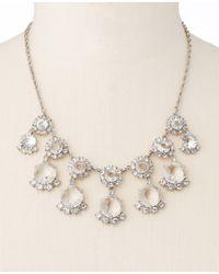 Ann Taylor | Metallic Circular Stone Drop Necklace | Lyst