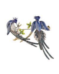 Brooks Brothers - Blue Audubon Brooch - Lyst