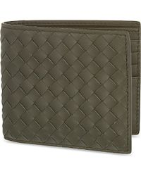 Bottega Veneta | Green Intrecciato Leather Wallet, Women's, Dark Sargeant | Lyst
