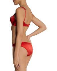 L'Agent by Agent Provocateur - Red Danita Low-Rise Satin Briefs - Lyst