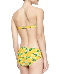 Michael Kors | Yellow Carnation-print Two-piece Swimsuit | Lyst