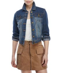 Jou Jou - Multicolor Fitted Denim Jacket - Lyst