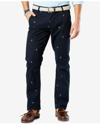 Dockers - Black Men's Slim-tapered Alpha Khaki Pants for Men - Lyst