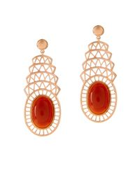 Alexandra Alberta | Red Khrysler Carnelian Earring | Lyst