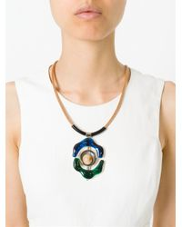 Marni | Brown Flower Pendant Necklace | Lyst