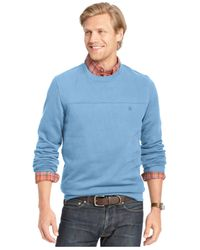 Izod | Blue Long-sleeve Crew-neck Fleece for Men | Lyst