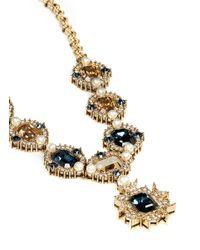 St. John - Metallic 'Ornate' Swarovski Crystal Necklace - Lyst
