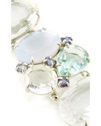 Bounkit | Chalcedony, Iolite, And Green Amethyst Bracelet | Lyst