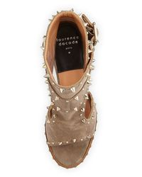 Laurence Dacade - Gray Deric Leather Sandals - Lyst