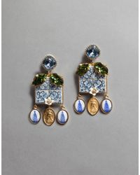 Dolce & Gabbana | Blue Majolica Drop Earrings | Lyst