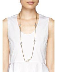 St. John | Metallic Triangle Swarovski Crystal Necklace | Lyst