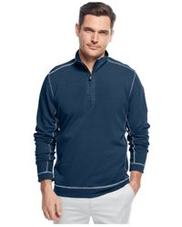 Tommy Bahama - Blue Ben And Terry Half-Zip Pullover for Men - Lyst