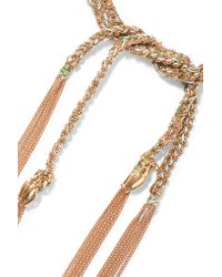Carolina Bucci - Metallic Strength Lucky 18-karat Gold And Silk Bracelet - Lyst