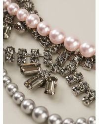 Tom Binns - Metallic Crystal and Pearl Tie Necklace - Lyst