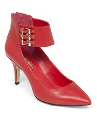 BCBGeneration | Red Opera Ankle-strap Pumps | Lyst