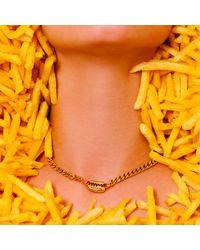 Glenda López | Metallic The Burger Necklace | Lyst