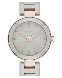 DKNY | Gray 'stanhope' Ceramic Bracelet Watch | Lyst