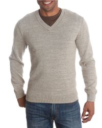 Lucky Brand | Natural V-neck Cotton Sweater for Men | Lyst
