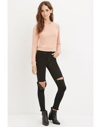 Forever 21 - Pink Knit Crop Top - Lyst