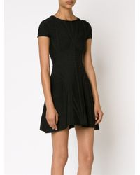 Hervé Léger - Black Bandage Flared Dress - Lyst