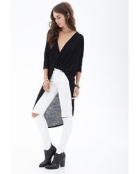 Forever 21 - Black Twist-front Knit Top You've Been Added To The Waitlist - Lyst