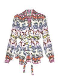 Etro | Multicolor Multi Floral-print Silk Blouse | Lyst