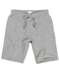 Sunspel - Gray Men's Loopback Cotton Short for Men - Lyst