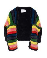 Sonia Rykiel | Multicolor Rainbow Fur Shrug | Lyst