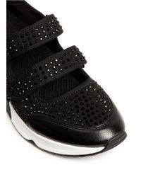Ash | Black 'lalle' Crystal Neoprene Sneakers | Lyst
