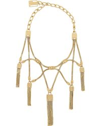 Lanvin | Metallic Tasseled Gold-tone Swarovski Crystal Necklace | Lyst
