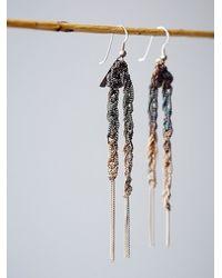 Free People - Metallic Maripossa Jewelry Womens Wreath Chain Earrings - Lyst
