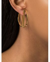 Maria Black - Metallic Half Hoop Earrings - Lyst
