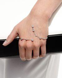 YEPREM | Metallic 18k White Gold Hand Cuff With Diamonds | Lyst