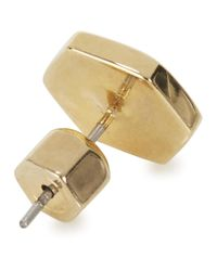 Marc By Marc Jacobs | Metallic Gold Tone Bolt Stud Earrings | Lyst
