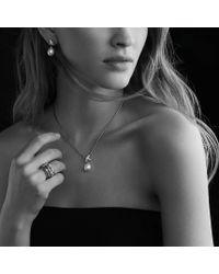 David Yurman - Metallic X Earrings with Diamonds and Pearls - Lyst