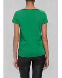 & Other Stories - Green Cotton T-Shirt - Lyst