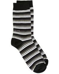 DIESEL | Black Striped Socks for Men | Lyst