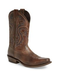 Ariat - Brown 'lawless Rustic' Cowboy Boot for Men - Lyst