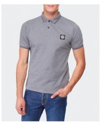 Stone Island - Gray Slim Fit Polo Shirt for Men - Lyst