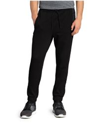 BOSS Green | Black Tracksuit Bottoms: 'hivon' In Cotton Blend for Men | Lyst