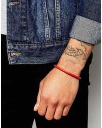 Ted Baker - Red Plaited Leather Bracelet for Men - Lyst