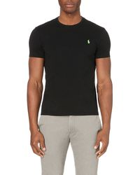 Pink Pony - Black Custom-fit Logo Cotton-jersey T-shirt for Men - Lyst