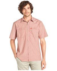G.H. Bass & Co. | Red Explorer Short-sleeve Plaid Performance Shirt for Men | Lyst