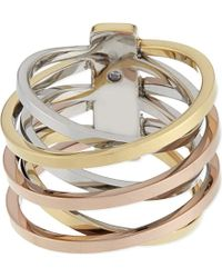 Michael Kors | Metallic Brilliance Criss-cross Ring | Lyst