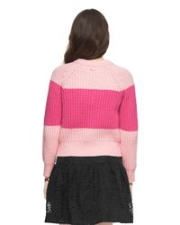 kate spade new york - Pink Chunky Cotton Sweater - Lyst