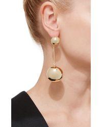 J.W.Anderson | Metallic Gold Sphere Drop Earrings | Lyst