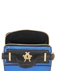 Giancarlo Petriglia - Black Mini Clary Metallic Elaphe Shoulder Bag - Lyst